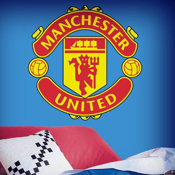 Wandtattoos: Manchester United wappen Farbe