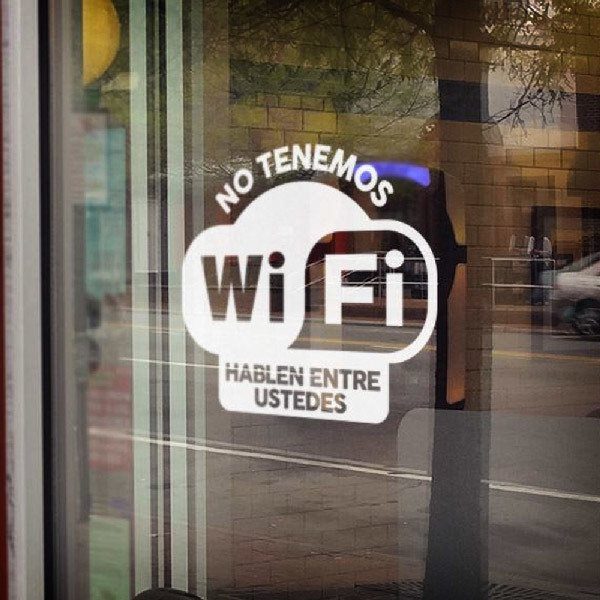 Wandtattoos: No tenemos wifi hablen entre ustedes