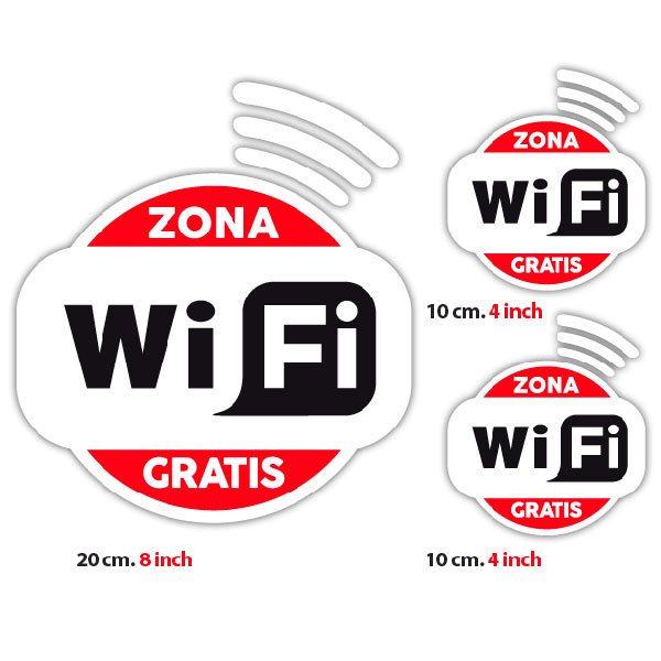 Wandtattoos: Zona Wifi Gratis - Pack 3 aufkleber