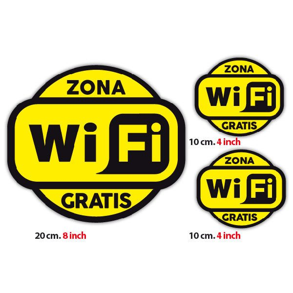 Wandtattoos: Zona Wifi Gratis 2 - Pack 3 aufkleber
