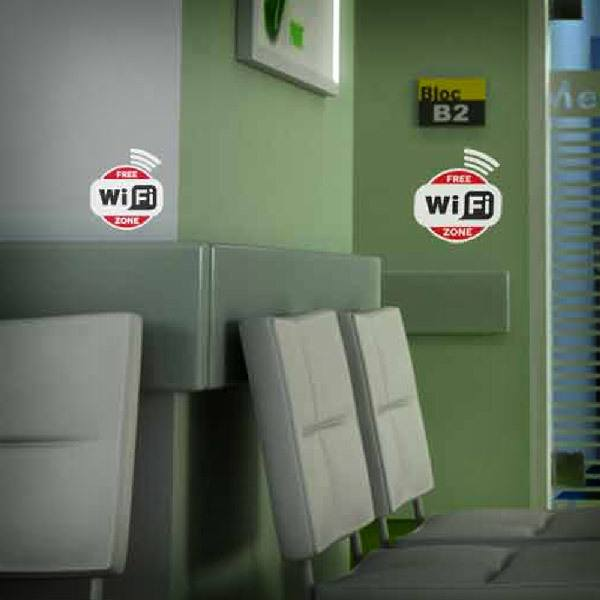 Wandtattoos: Free Wifi Zone - Pack 3 aufkleber