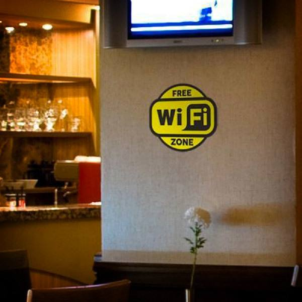 Wandtattoos: Free Wifi Zone 2 - Pack 3 aufkleber