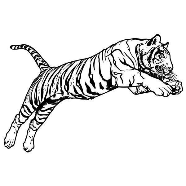 Wandtattoos: Bengal-Tiger-Sprung