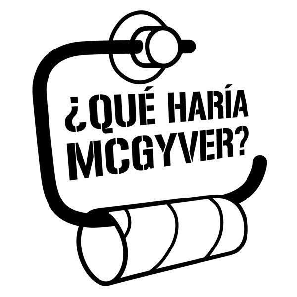 Wandtattoos: ¿Qué haría Macgyver sin papel?