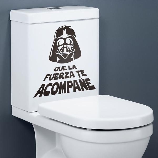 Toilette Auf Spanisch : wandtattoo f r bad que la fuerza te acompa e ~ Buech-reservation.com Haus und Dekorationen