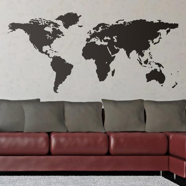 Wandtattoos: Weltkarte