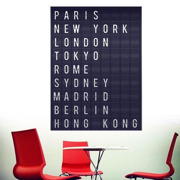 Wandtattoos: Airport Cities Tafel 1