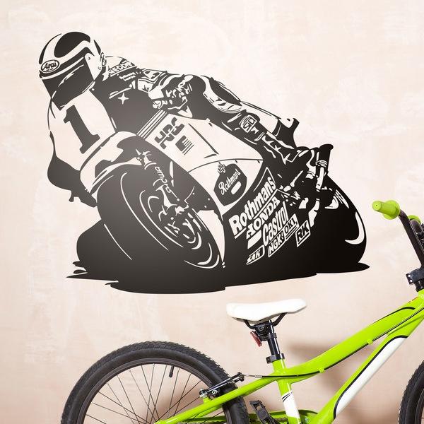 Wandtattoos: Racing Motorrad
