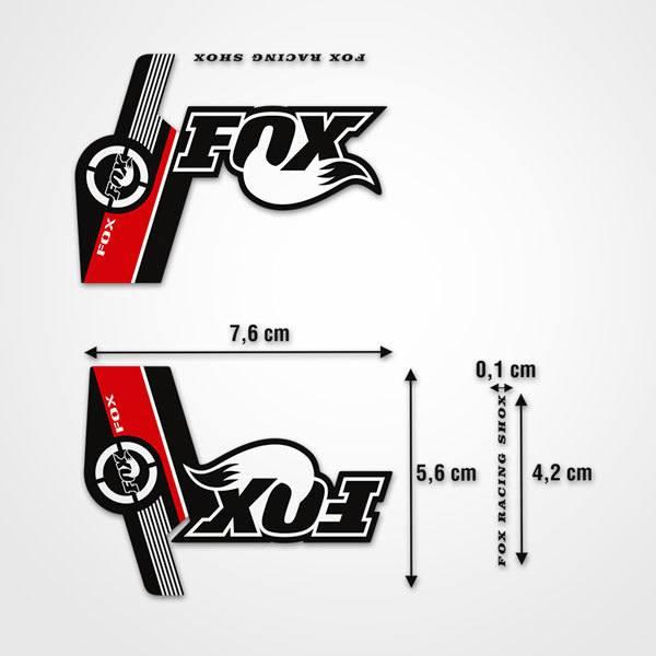 Aufkleber: Aufkleber Fox Racing Shox Gabeln Mountain Bike