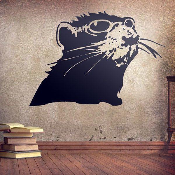 Wandtattoos: Banksy Ratte