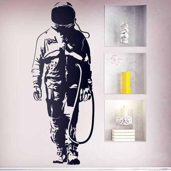 Wandtattoos: Banksy Graffiti Astronaut