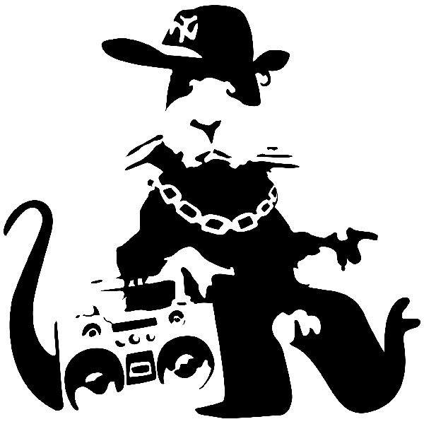 Wandtattoos: Banksy NYC Gangster Rat