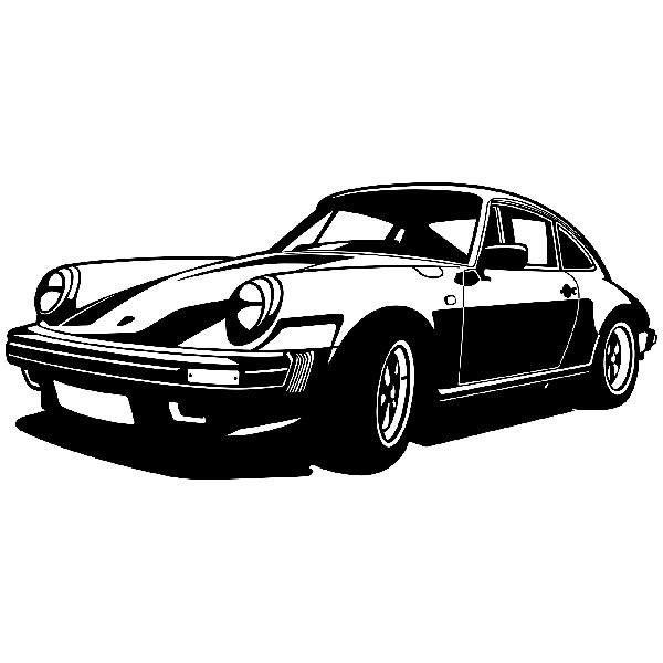 Wandtattoos: Porsche 911 klassisch