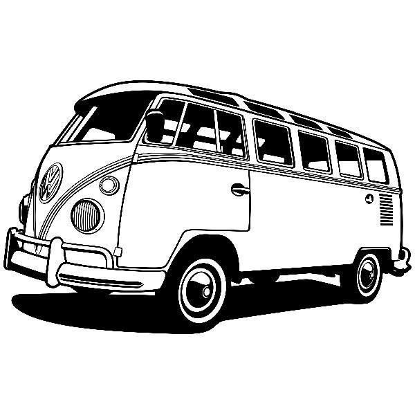 Wandtattoos: Volkswagen van Kalifornien