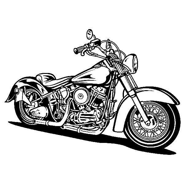 Wandtattoos: Harley Davidson Softail Classic