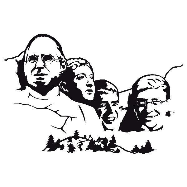 Wandtattoos: Mount Rushmore Geek