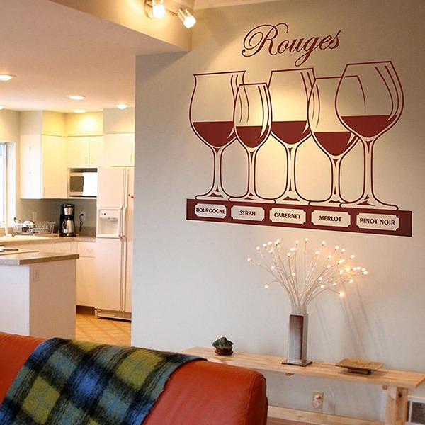 Wandtattoos: Arten von Rotwein