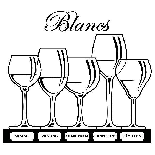 Wandtattoos: Arten von Weißwein