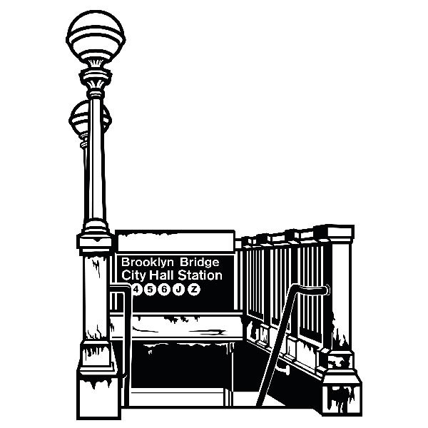 Wandtattoos: Subway Brooklyn Bridge City Hall Station