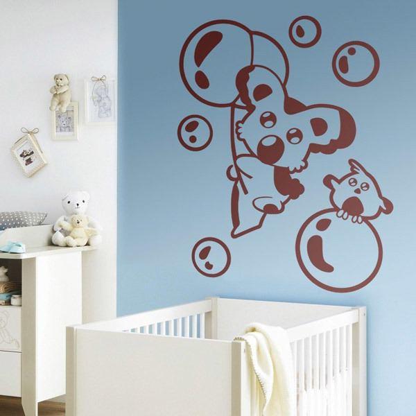 Kinderzimmer Wandtattoo: Koala und Vogel