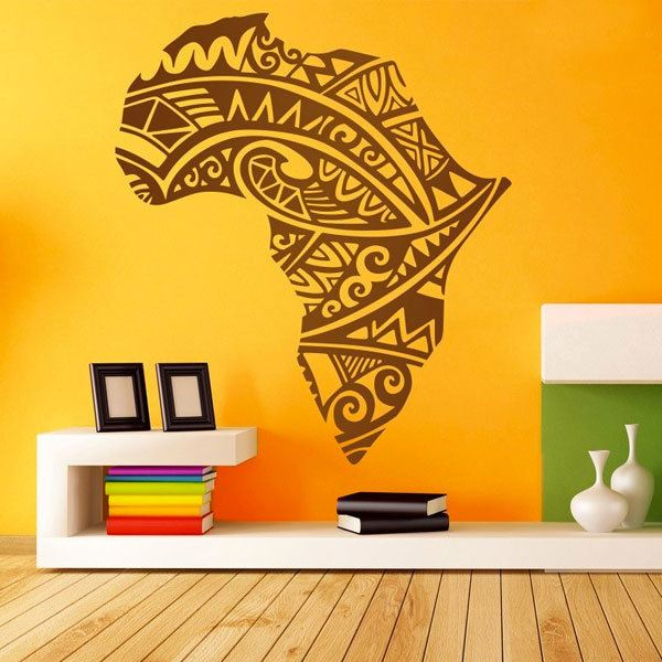 Wandtattoos: Afrika Silhouette Tribal Tattoo 0