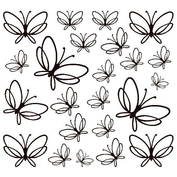 Wandtattoos: Kit 23 Schmetterlinge Noltea