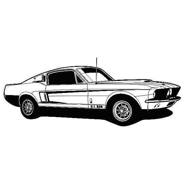 Wandtattoos: Ford Mustang Shelby GT 500