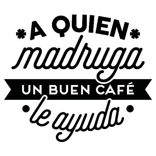 Wandtattoos: A quien madruga un buen café le ayuda