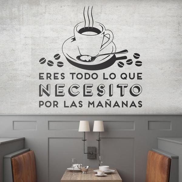 Wandtattoos: Eres todo lo que necesito por las mañanas