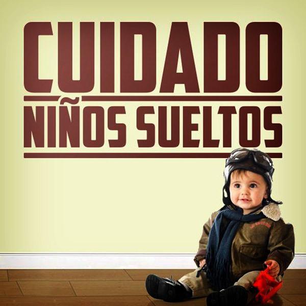Wandtattoos: Cuidado niños sueltos
