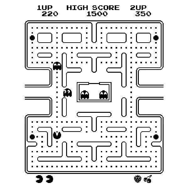 Wandtattoos: Pac-Man Arcade Game