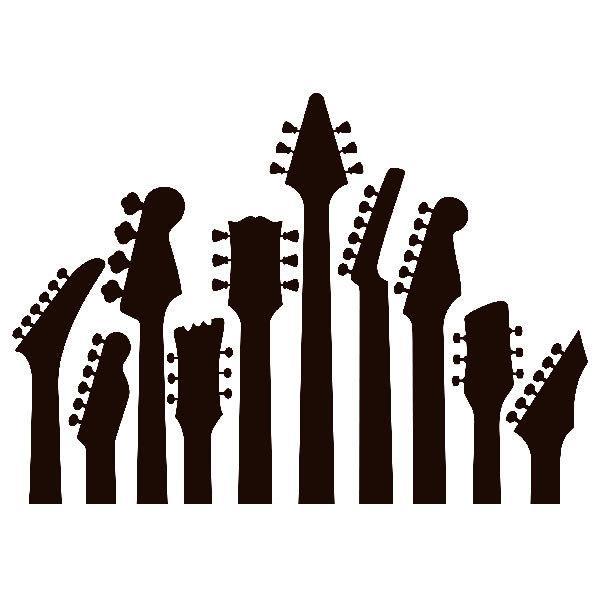 Wandtattoos: Gitarre Masten