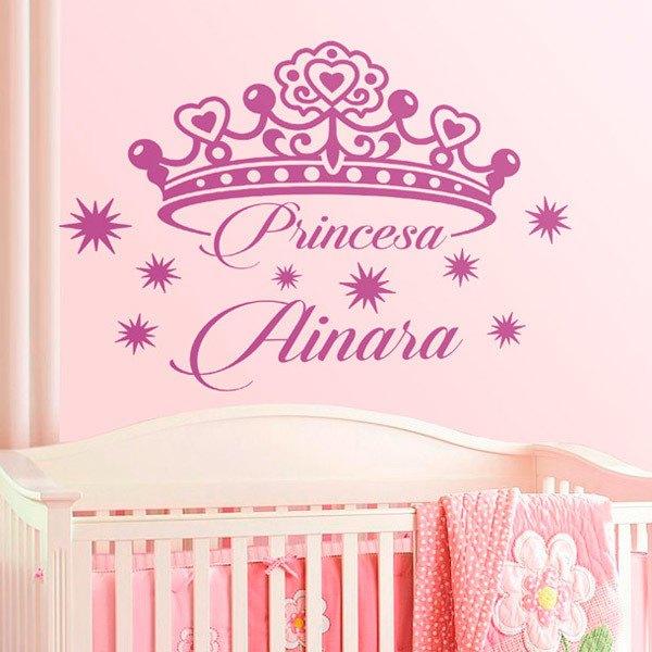 Kinderzimmer Wandtattoo: Personalisierte Prinzessin