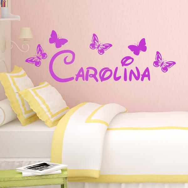 Kinderzimmer Wandtattoo: Personalisierte Schmetterlinge 1