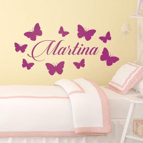 Kinderzimmer Wandtattoo: Personalisierte Schmetterlinge 2