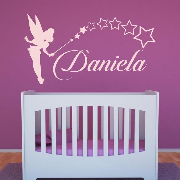 Kinderzimmer Wandtattoo: Personalisierte Tinkerbell Fee