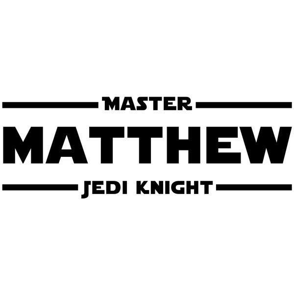 Wandtattoos: Master Jedi Knight mit dem Namen