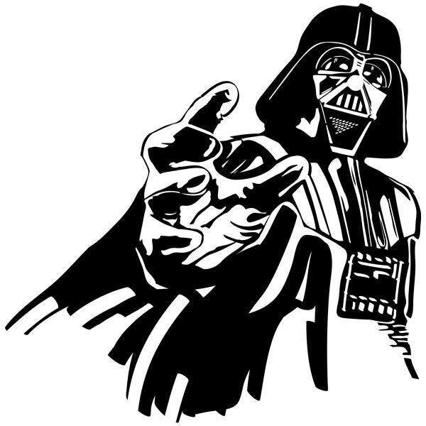 Wandtattoos: Darth Vader 2