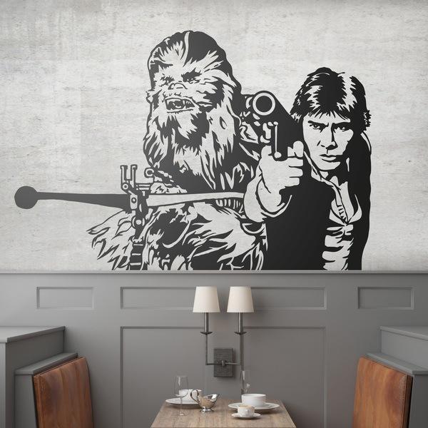 Wandtattoos: Chewbacca und Han Solo