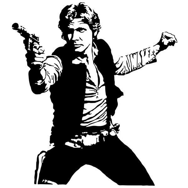 Wandtattoos: Han Solo