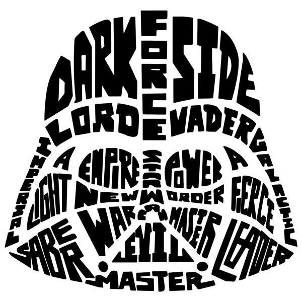 Wandtattoos: Typografische Darth Vader