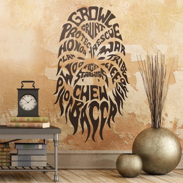 Wandtattoos: Typografische Chewbacca