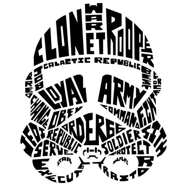 Wandtattoos: Typografische Stormtrooper