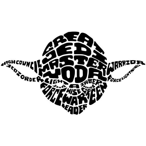 Wandtattoos: Typografische Yoda