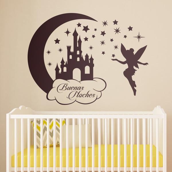 Kinderzimmer Wandtattoo: Castle, Sterne und Tinkerbell Buenas Noches
