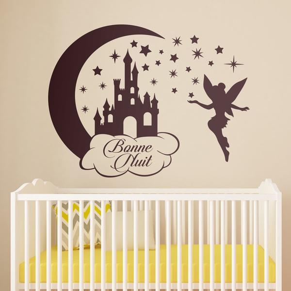 Kinderzimmer Wandtattoo: Castle, Sterne und Tinkerbell Bonne Nuit