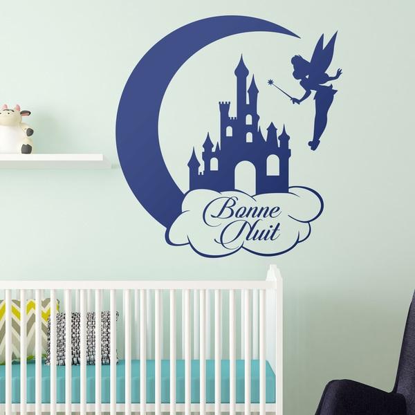 Kinderzimmer Wandtattoo: Tinkerbell, Castle and Moon Bonne Nuit