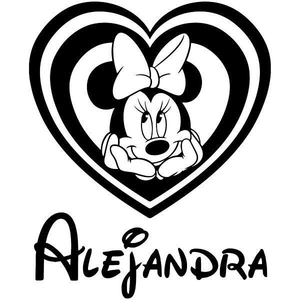 Kinderzimmer Wandtattoo: Benannt Minnie Mouse Herz