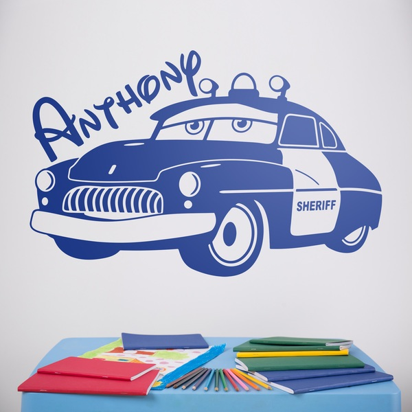 Kinderzimmer Wandtattoo: Cars Sheriff