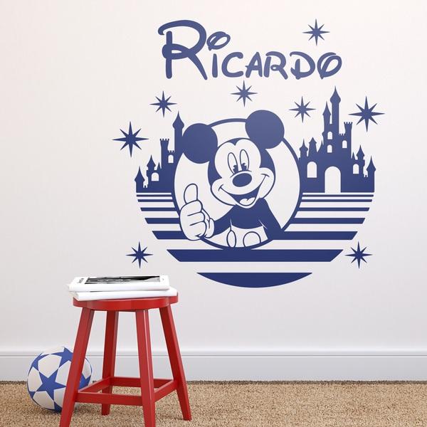 Kinderzimmer Wandtattoo: Mickey Mouse, Schloss und Sterne